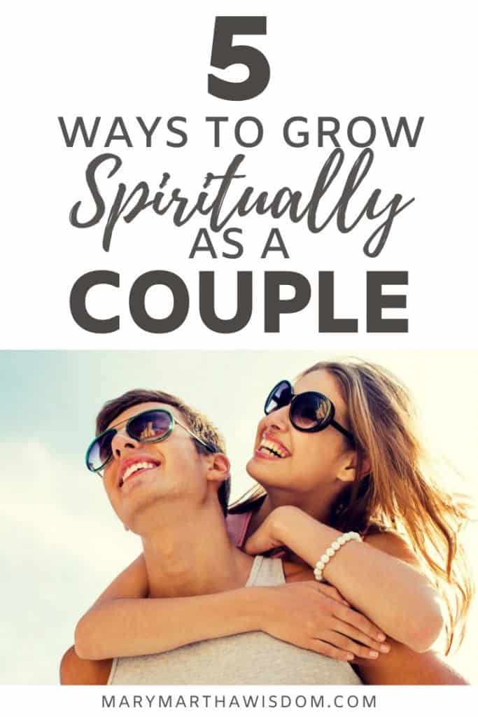 One of the most impactful things we can do for our marriage is to grow spiritually as a couple. The Word of God calls us to be equally yoked with our partner. (2 Corinthians 6:14) Being equally yoked means having the same belief system. But I believe it can go so much deeper than that within our marriages. Read how in this guest post by Lauren Prezzano at MaryMarthaWisdom.com #christianmarriage #marriageadvice  #godlywife #marymarthawisdom